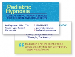 Pediatric Hypnosis business card