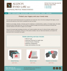 Allison Byrd Law home page