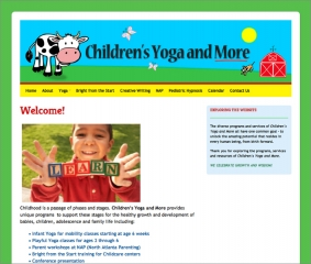 Children's Yoga website