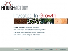Future Factory homepage