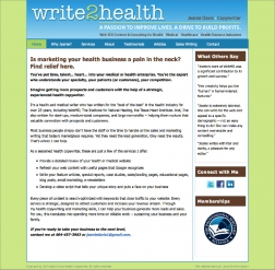 write2health website