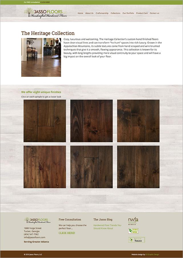Jasso floors website ca graphic design for Floor and decor website